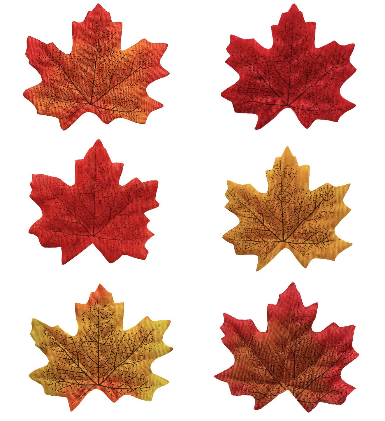 High-Quality Polyester Artificial Maple Leaves