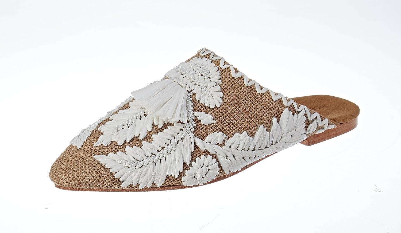 Antik Batik Damen Leah Geschlossene Sandalen Beige (Cream)