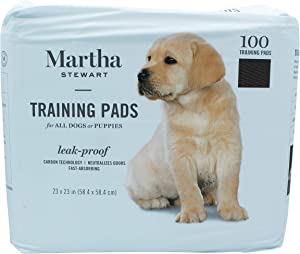 Martha Stewart Pets Jumbo Training Pads for All Dogs & Puppies   Extra Large Dog & Puppy Pads With Leak Proof Technology   Fast Absorbing Training Pads Neutralize Dog Odors