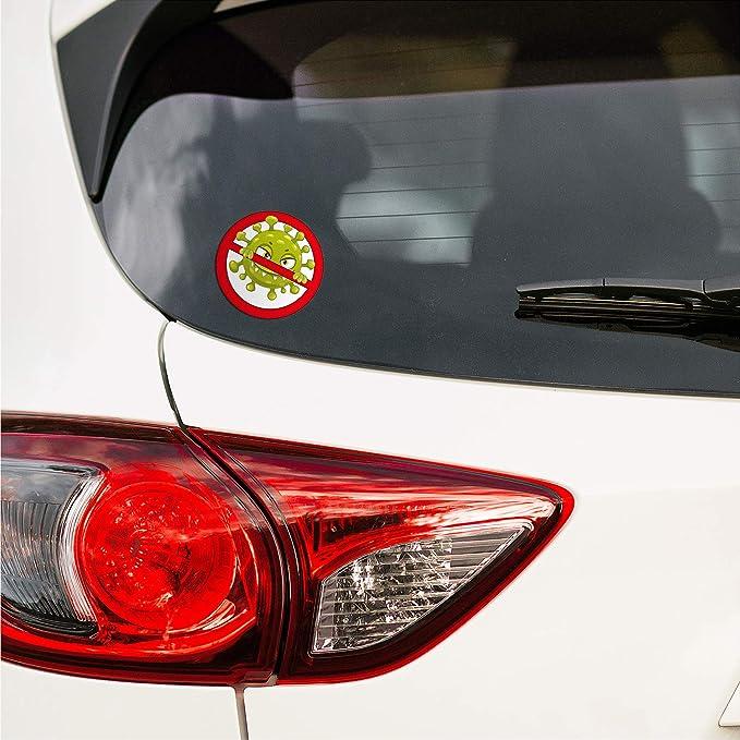 Finest Folia Corona Virus Sticker Funsticker Hologramm Aufkleber Lustig Für Kfz Auto Motorrad Laptop Kühlschrank Fenster Selbstklebend R114 Anti Virus Auto