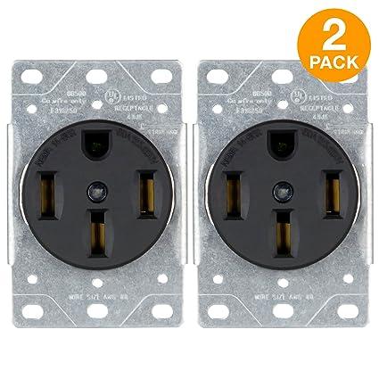 Nema 14 50r >> Amazon Com Enerlites 50 Amp Receptacle Outlet Nema 14 50r For