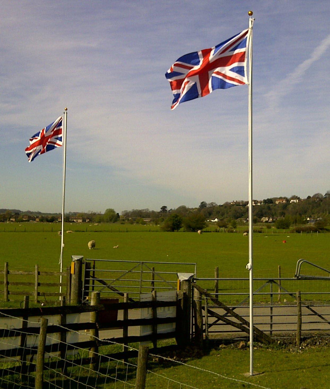 1PC UK Flag 20ft Flagpole Aluminium Flag pole Kit Outdoor Halyard Pole
