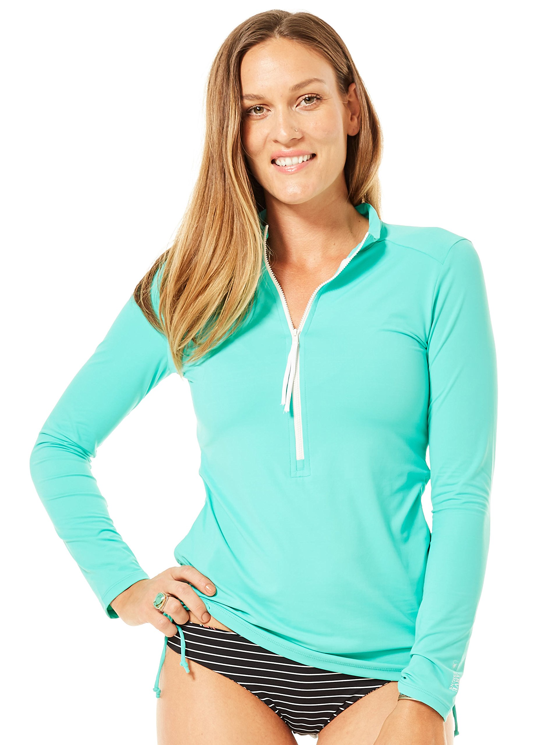 CARVE Designs Women's Cruz Half Zip Jacket, Mint, X-Small