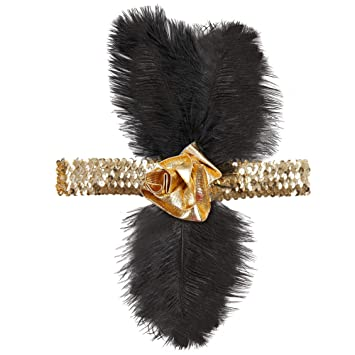 1920s  Vintage sequined beaded headbands black Alice bands  UK