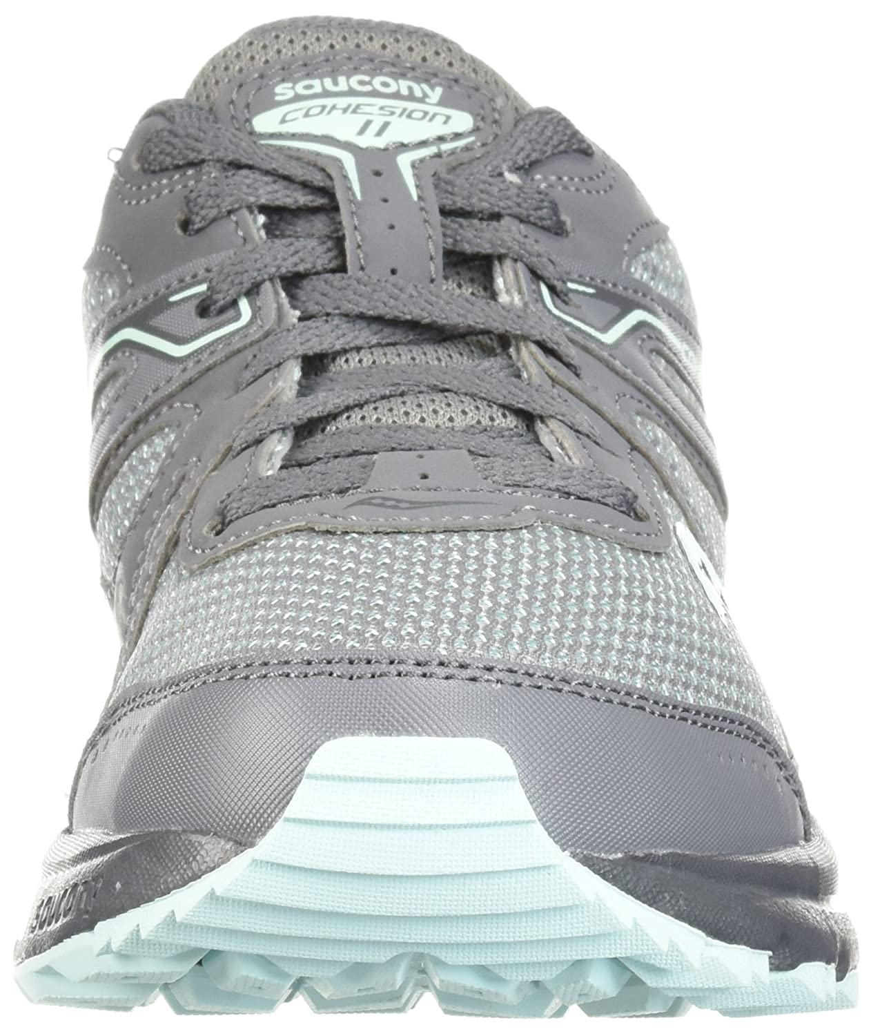 Saucony Women's Cohesion TR11 Running Shoe B071WKL1TC 10.5 Wide US|Grey/Mint