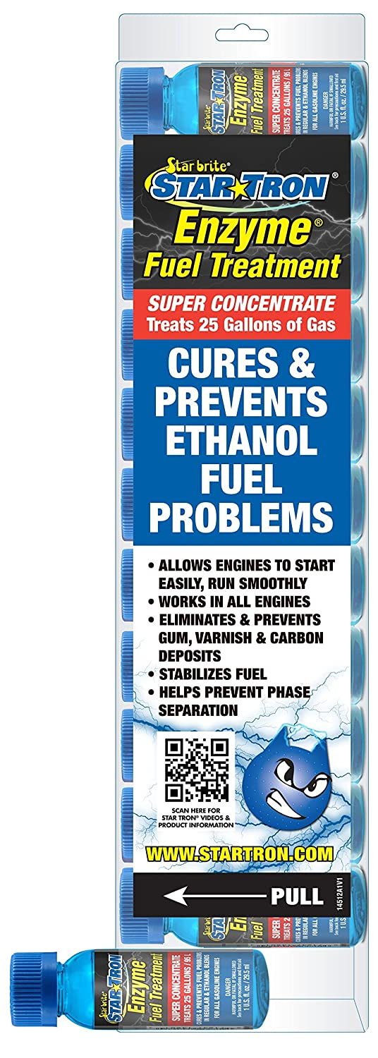 Star Brite 14512 Tron Fuel Treatment Super Concentrated Gas Formula 145 Shooters (12 Pack), 1 oz