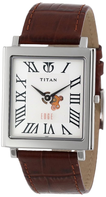 b6c59533978 Titan Men s 1518SL01 Edge Ultra Slim 3.5mm Thin Watch  Amazon.co.uk  Watches