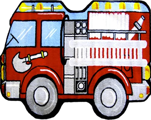 LA Rug Fire Engine Rug 25 x39