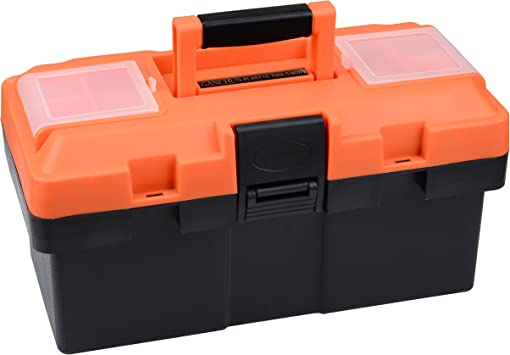 Consumer Crafts Review >> Ganchun 14 Inch Consumer Storage And Toolbox For Tool Or Craft Storage Locking Lid And Extra Storage