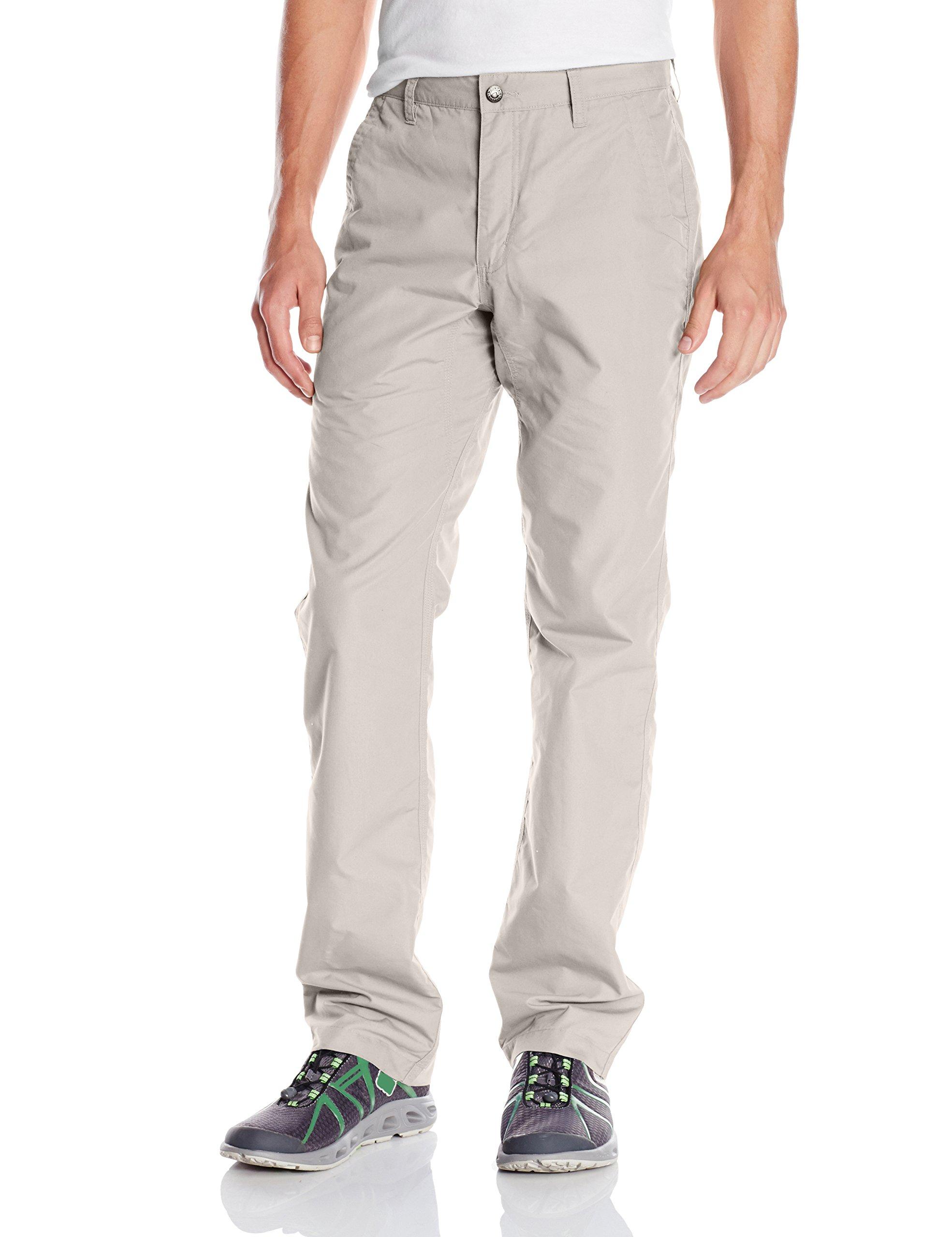 Mountain Khakis Men's Poplin Pant Slim Fit, Oatmeal, 36W/30-Inch