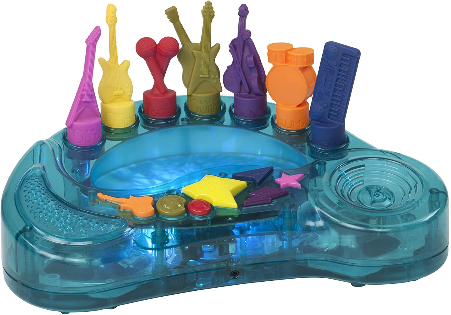 B. toys – Rockestra – 7 Musical Instruments On an Interactive Light-Up Music Orchestra For Toddlers 3 years + (15 Songs)