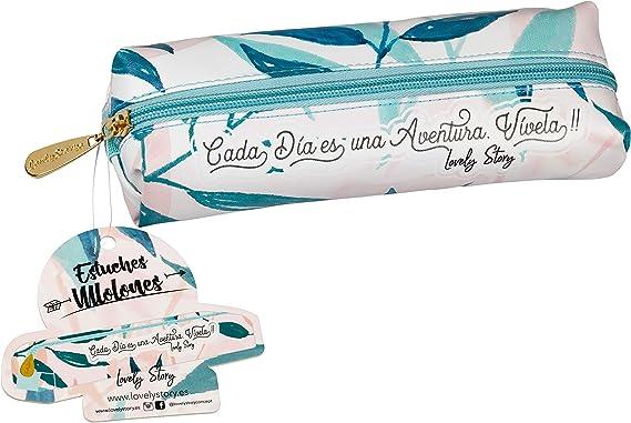 Lovely Story Estuche Portatodo Grande con Goma Elástico Hojas: Amazon.es: Oficina y papelería
