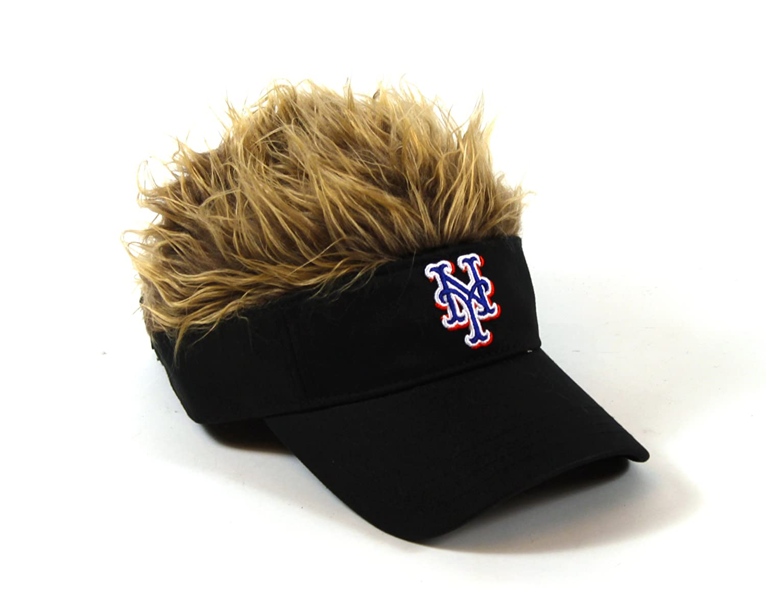 3ab3cbebfaa1f Amazon.com   The Northwest Company MLB New York Mets Flair Hair Adjustable  Visor