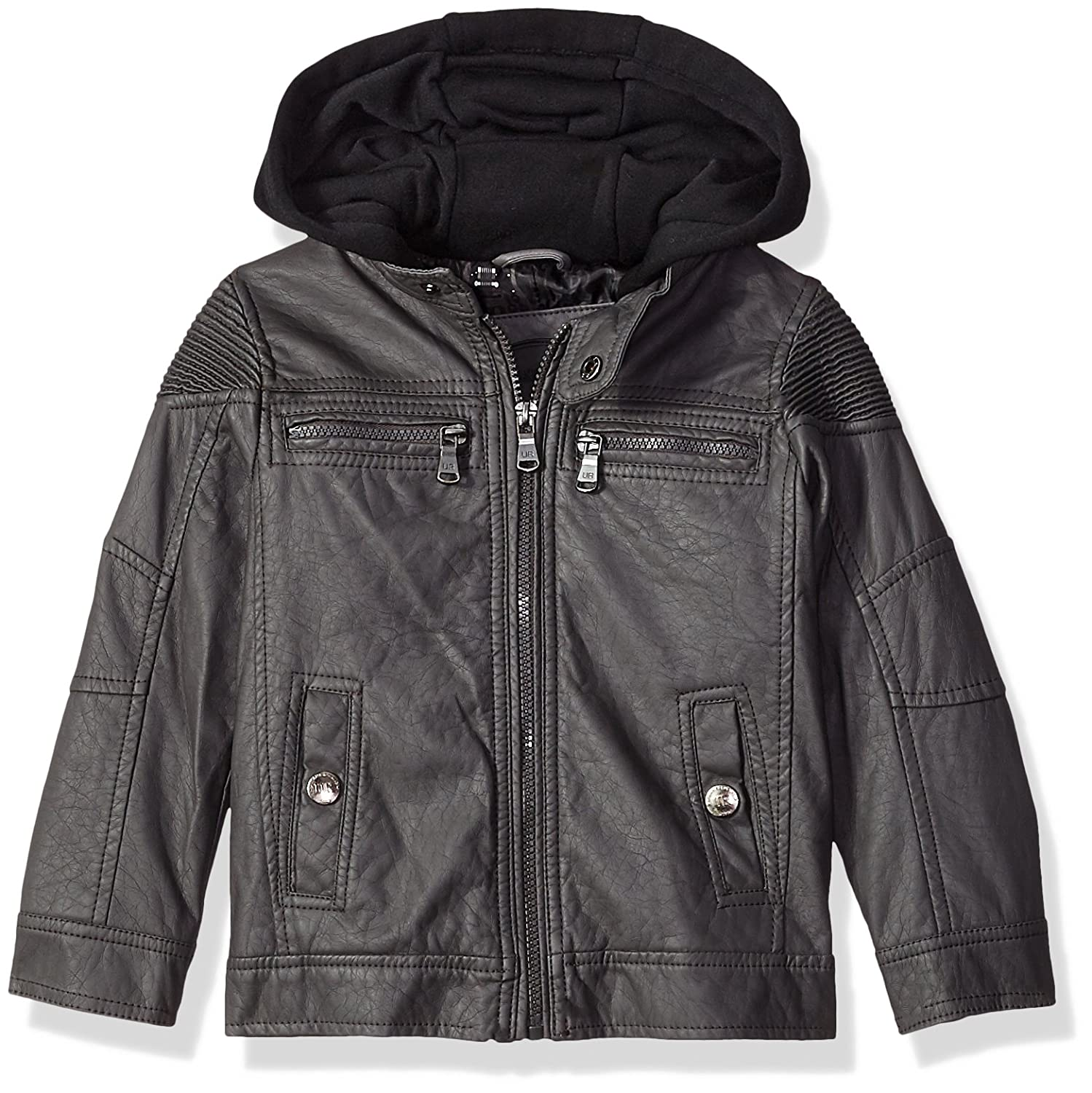 5167bad7cfd Amazon.com  Urban Republic Ur Boys Faux Leather Jacket  Clothing