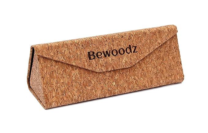 Bewoodz Gafas funda de corcho - SOSTENIBLE Gafas funda de ...