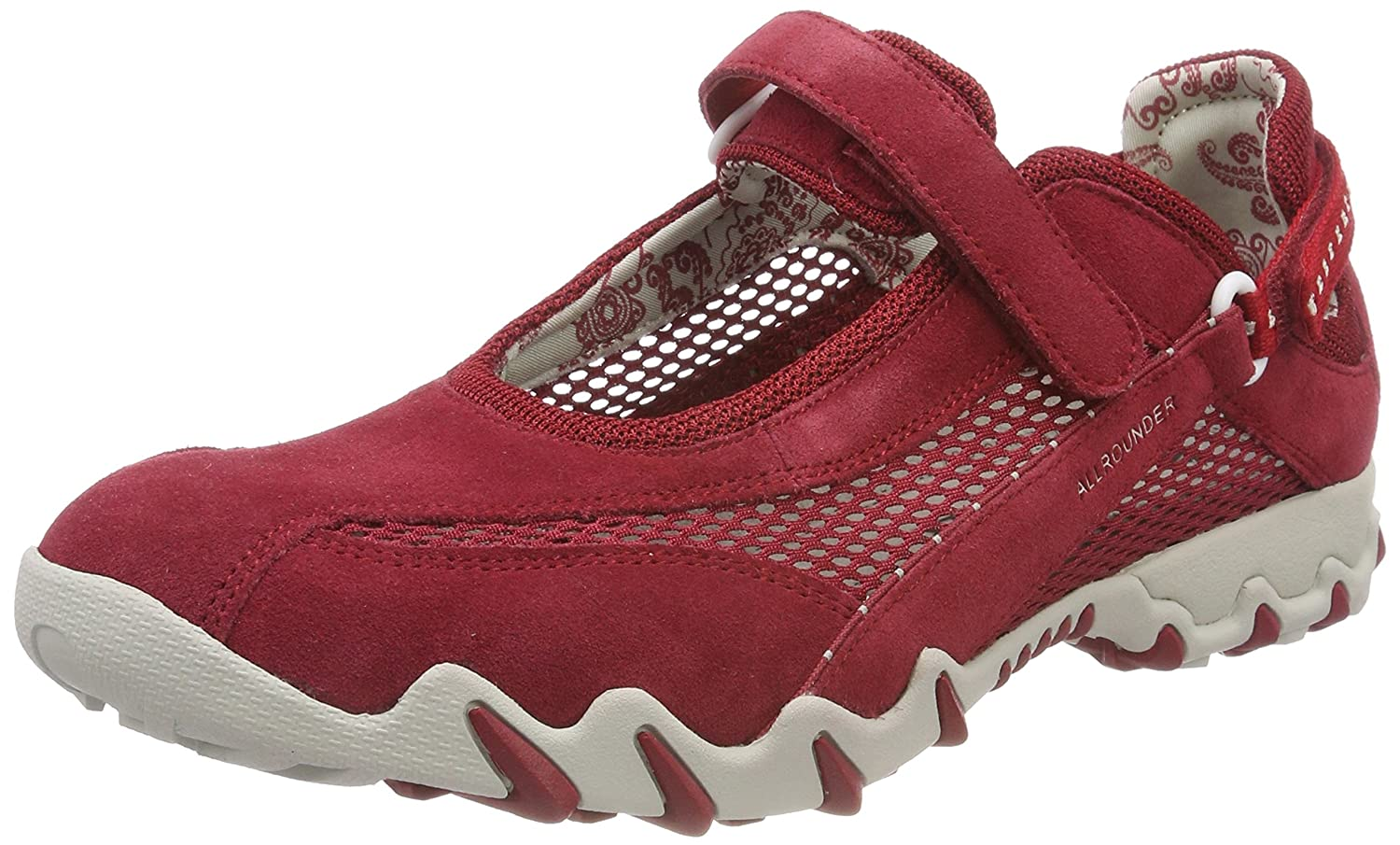 Allrounder by Mephisto Niro C.Suede Open Mesh 48 Red, Zapatillas de Deporte Exterior para Mujer 40 EU|Rojo - Rot (Red/Red)