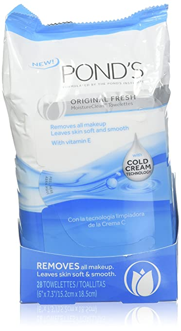 Amazon.com : Ponds Moisture Clean Towelettes Original Fresh 28 ct : Facial Cleansing Cloths And Towelettes : Beauty