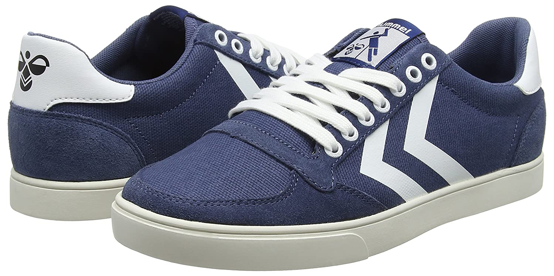 Hummel Unisex-Erwachsene Slimmer Stadil Mono Sneaker Blau Blau Sneaker (Vintage Indigo) f744c0