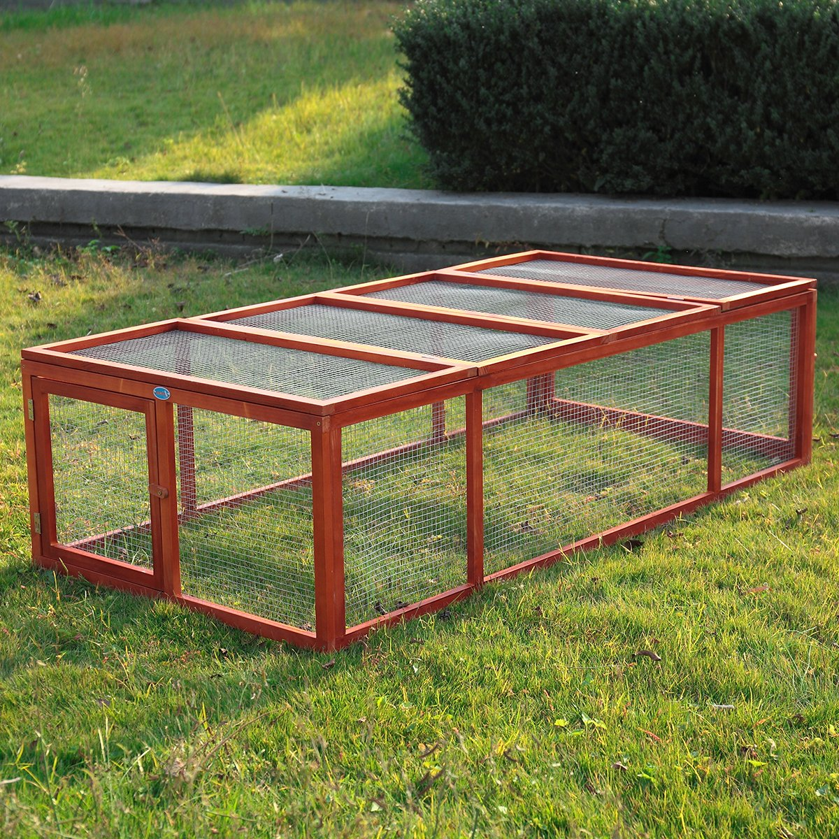 Tobbi Wooden Rabbit Hutch With Run Pet Animal Poultry