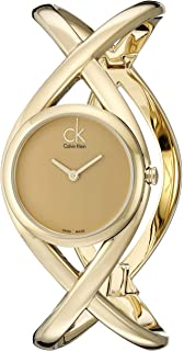 Calvin Klein Womens K2L23509 Enlace Analog Display Swiss Quartz Gold Watch