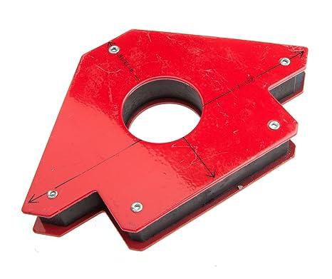 Forney 70715 Jig de soldadura magnética con agujero central, tamaño grande, levanta hasta 90