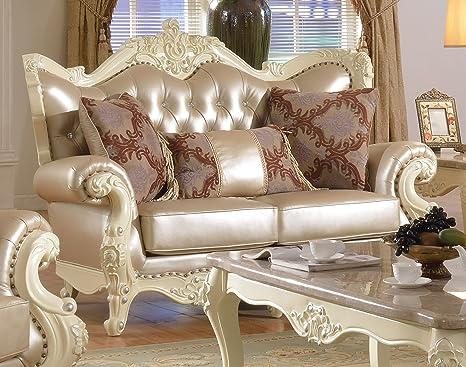 Amazon.com: Meridian Furniture 674-L Madrid Leather ...