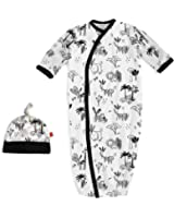 Magnificent Baby Baby Infant Magnetic Gown and Hat Set
