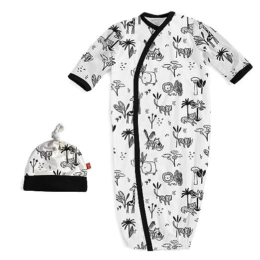 Amazon.com  Magnificent Baby Magnetic Me Unisex Cotton Gown   Hat ... 9265d9d48050