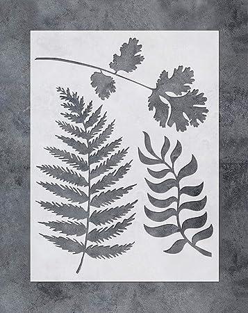 Ferns Stencil Durable /& Reusable Mylar Stencils