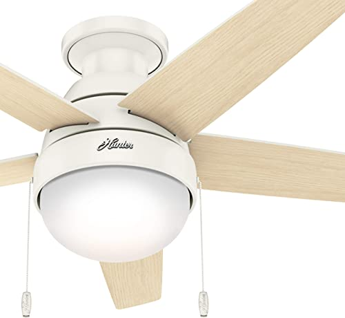 Hunter Fan 46 inch Low Profile Fresh White Indoor Ceiling Fan