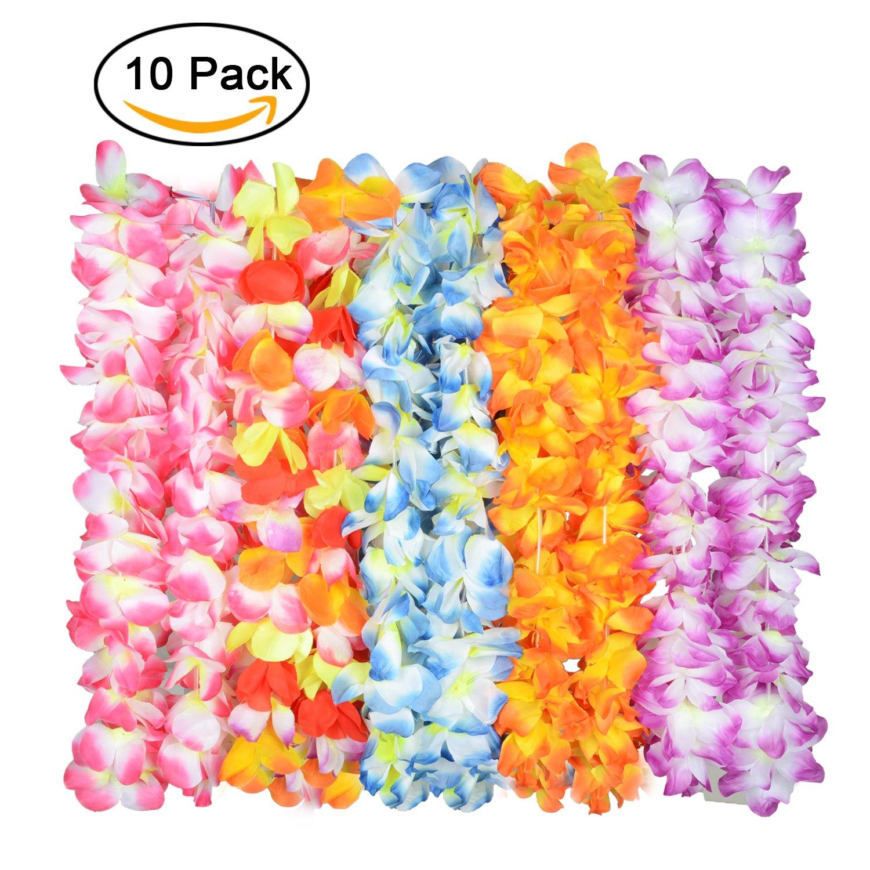 Amazon Upgraded Hawaiian Flower Lei For Luau Party60 Flowers