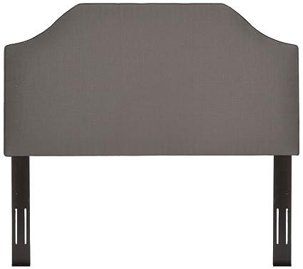 Burdeos tapizado Panel de cabecero de cama ajustable con marco ...