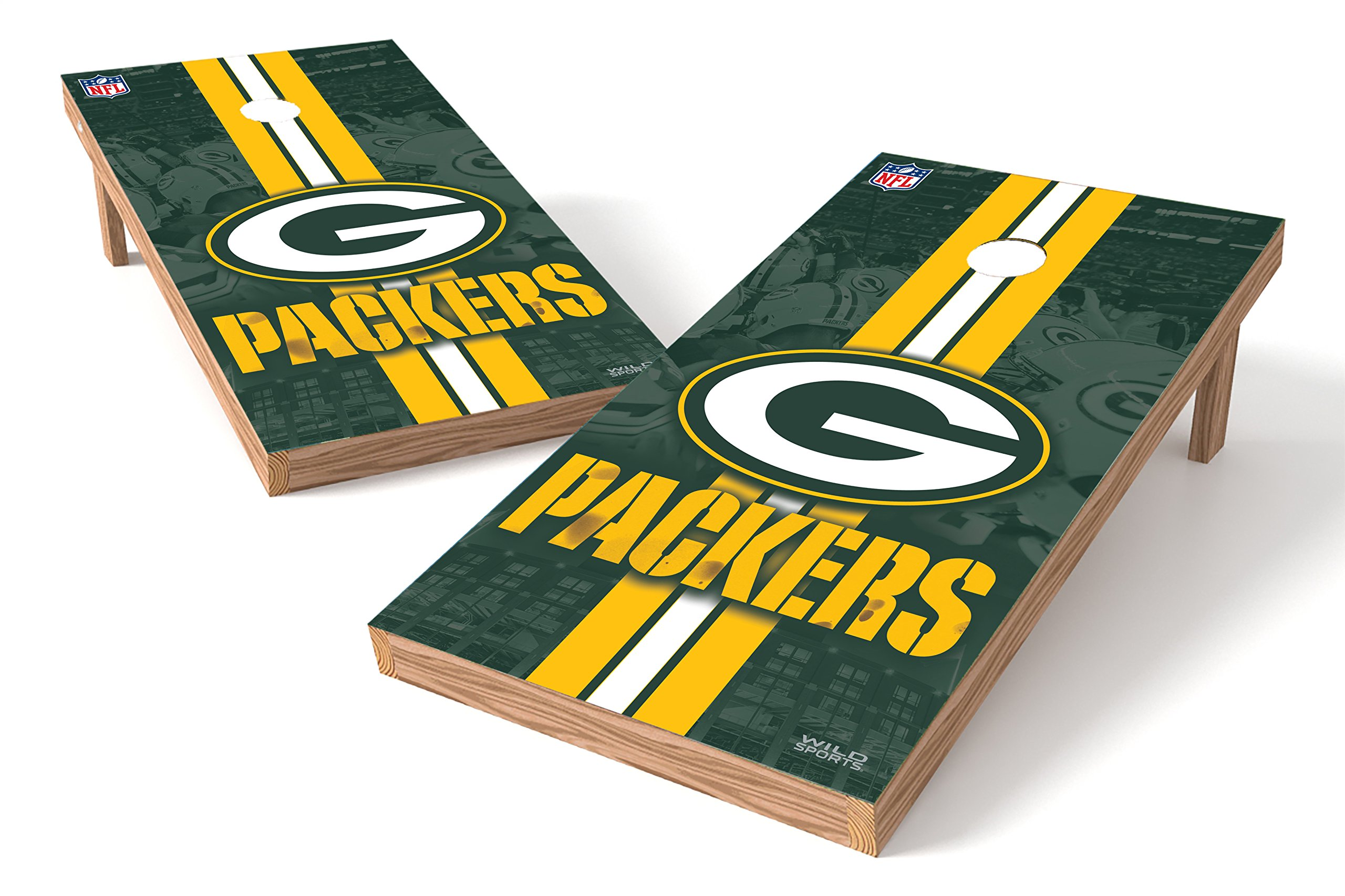 Wild Sports NFL Green Bay Packers 2' x 4' Authentic Cornhole Game Set