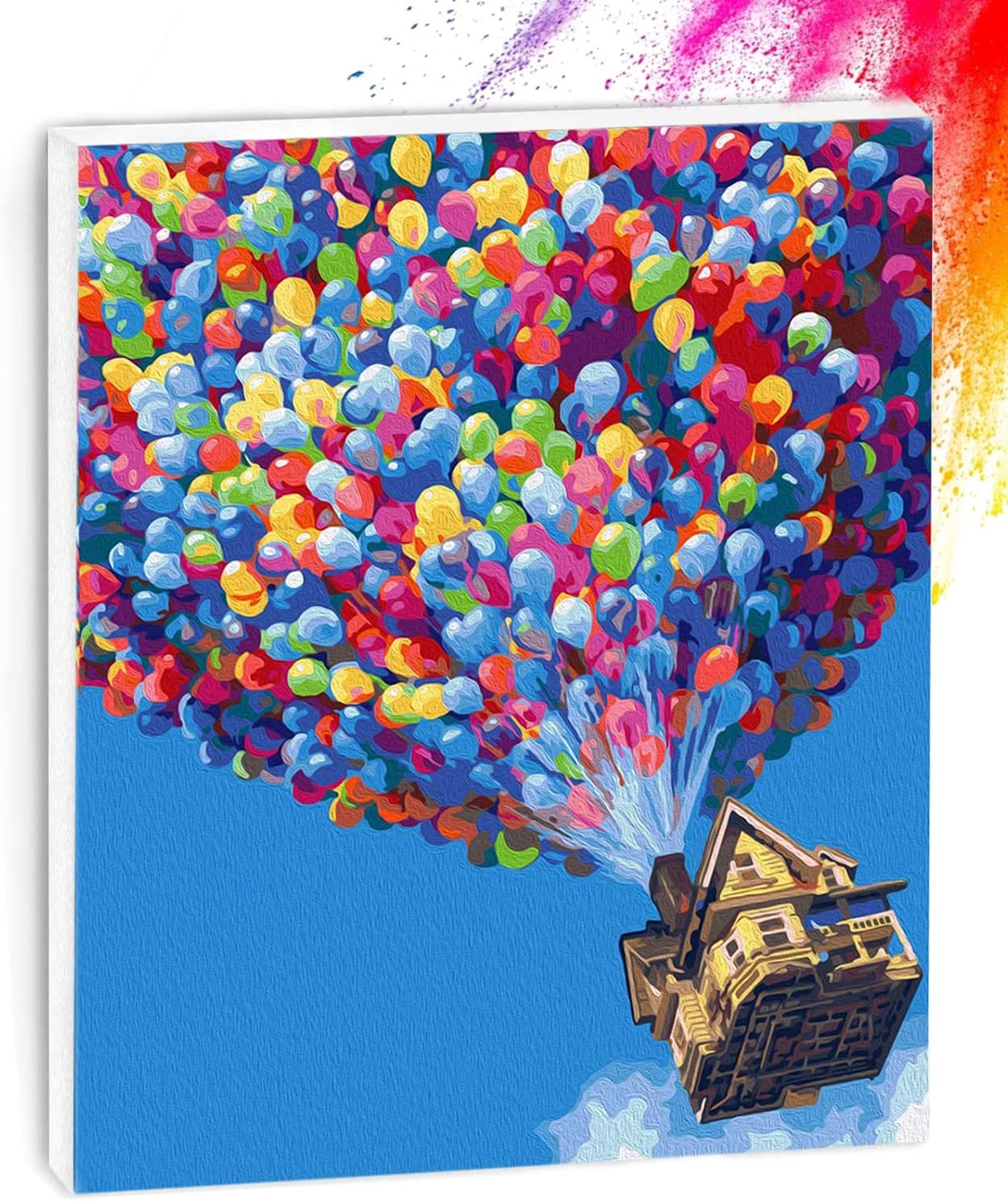 Paint by Numbers for Adults 16 x 20 inch DIY Canvas Oil Painting Kit with Paintbrushes and Acrylic Pigment-Colorful Balloon