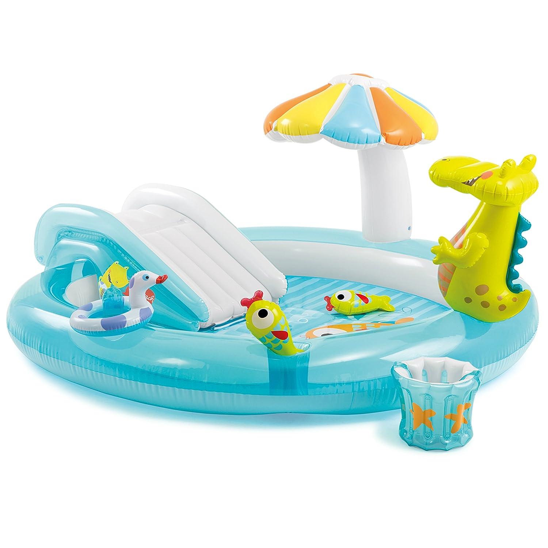 בריכת תנין מתנפחת לילדים Intex Gator Inflatable Play Center יבוא אישי באחריות מלאה