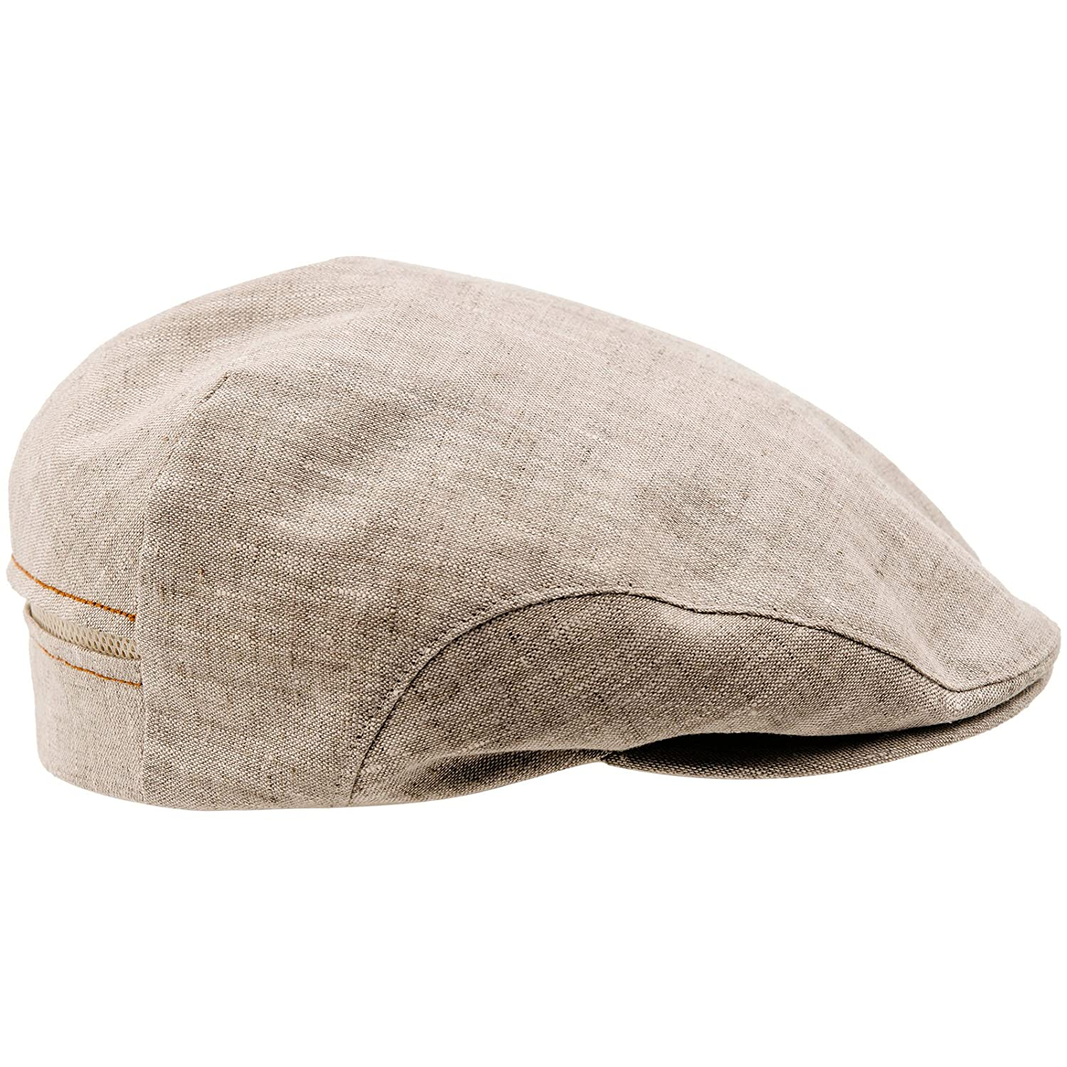 9a8411a03 Sterkowski Derby • 100% Linen Summer Ivy League Flat Cap