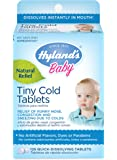 Hyland's Baby Tiny Cold Tablets, Natural Relief of Runny Nose, Congestion, and Occasional Sleeplessness Due to Colds, 125 Quick-Dissolving Tablets