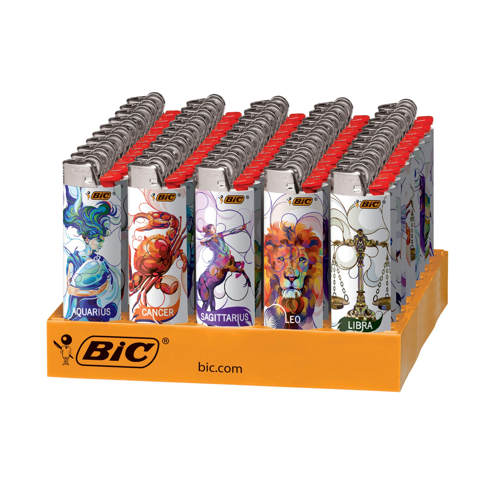 BIC Special Edition Astrology Series Lighters, 50-Count Tray