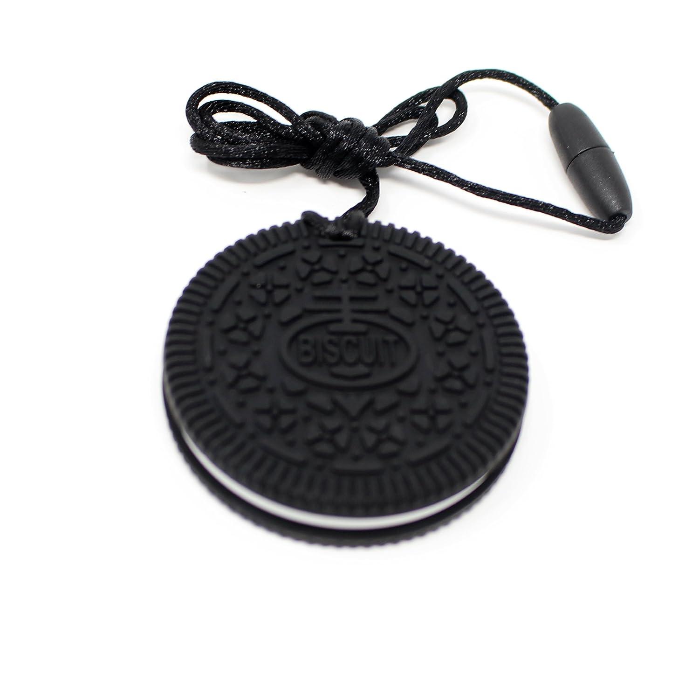 Mordedor de Silicona para Bebés Forma de Galleta Chocolate Negro y Nata