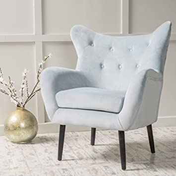 Amazoncom Modern Wingback Armchair Tufted Back Living Room