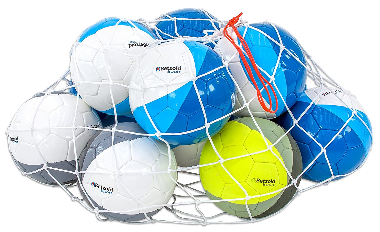 Betzold Sport Ball Set, Fußball, 2 Wettspiel- und 8 Trainingsbälle, inkl. Hallenfußball, Ballnetz - Schulsport Sportunterricht Schule Ausstattung Turnhalle Kinder Training