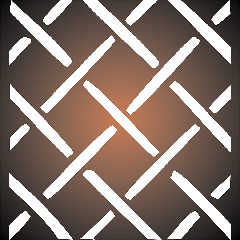 , Schablone, Schablone, Schablone, wiederverwendbar, große Lattice Muster Garten Wand – Vorlage, auf Papier Projekte Scrapbook Tagebuch Wände Böden Stoff Möbel Glas Holz etc. L B07G32GVHC | Abgabepreis  7b653b