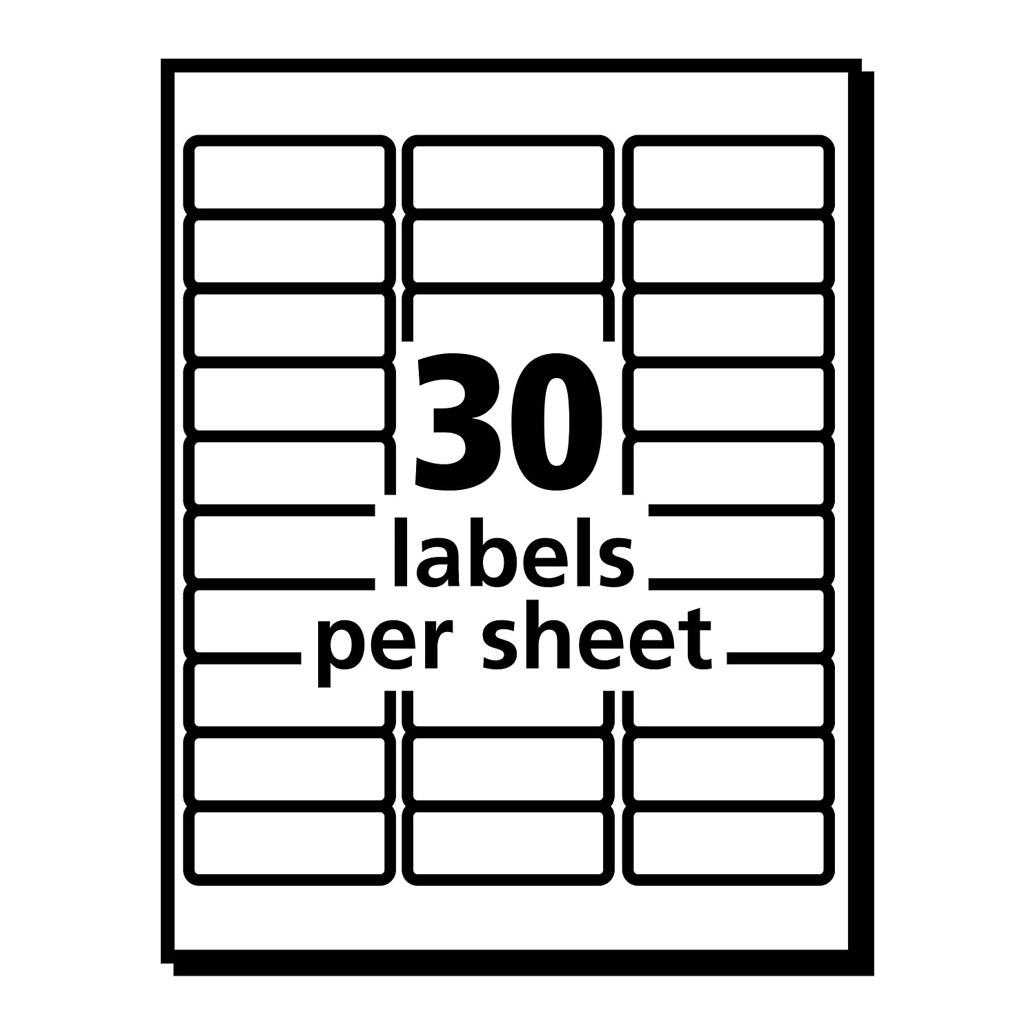 Avery Clear Easy Peel Address Labels For Laser Printers 1 X 2 5 8 Divider Indexes 2721 Box Of 1500 Case Pack 5660 Office Products