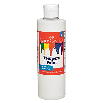 Faber-Castell Tempera Paint for Kids – Poster Paint for Kids – Made in The USA – White – 8 oz: Toys & Games
