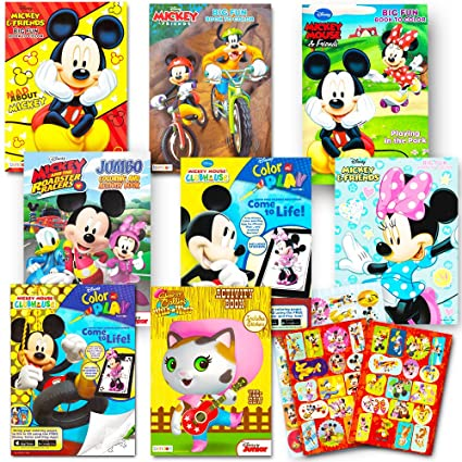 Amazon.com: Disney Coloring Books For Kids Toddlers Bulk Set -- 8 ...