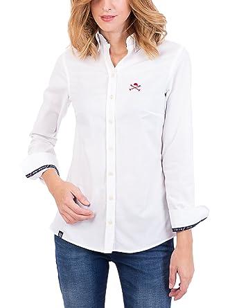 POLO CLUB Camisa Mujer Miss Oxford Blanco M: Amazon.es: Ropa y ...