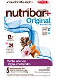 Nutribar Original Nutribar+ Original Meal Replacement Bars, Mocha Almond, 5 Bars 5 count
