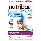 Nutribar Original Nutribar+ Original Meal Replacement Bars, Mocha Almond, 5 Bars 5 count