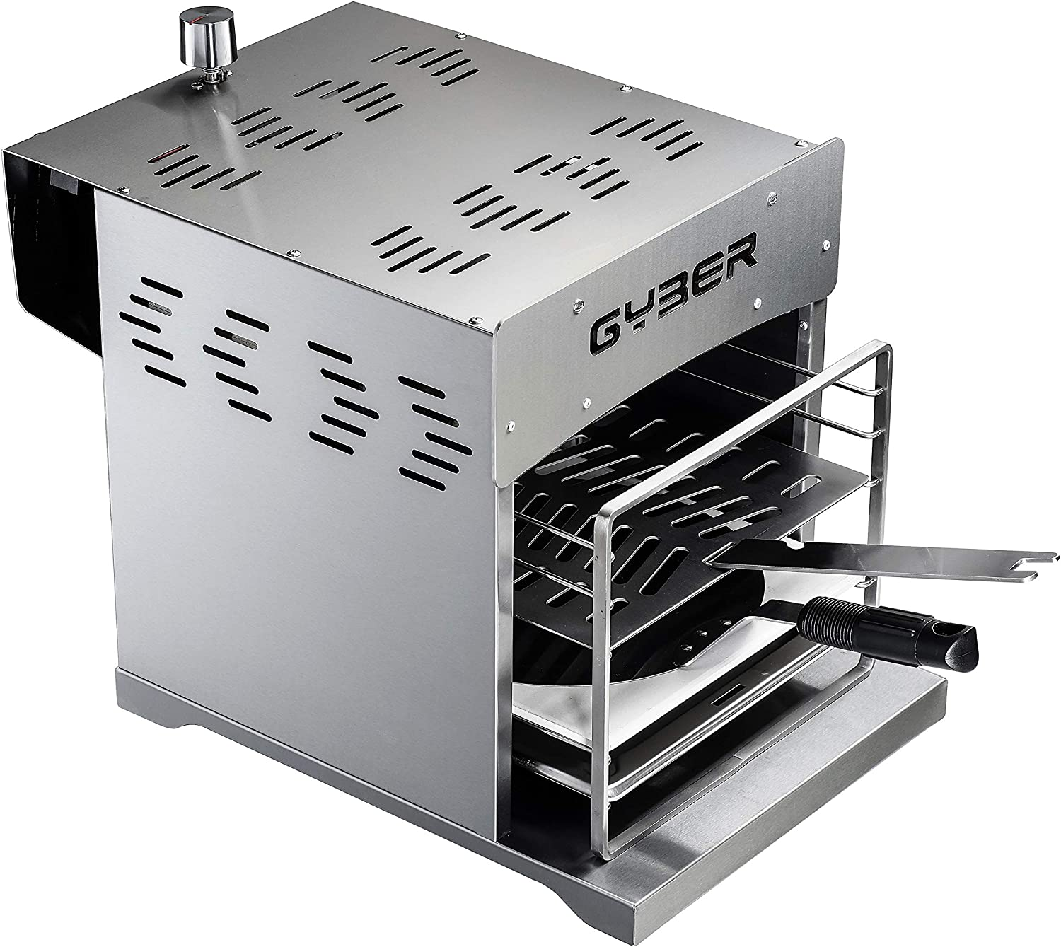 Dutton 122 in 12 Portable Outdoor Gas Grill Steak + Pizza Propane Infrared  Grill   Efficient Heating Element