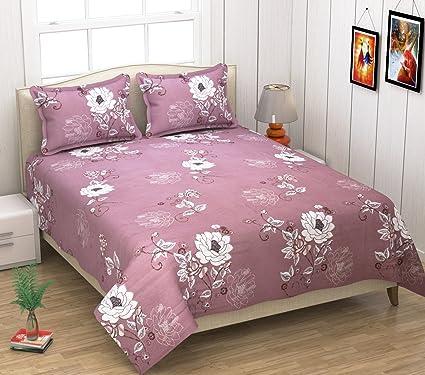 Amazon Com Kritarth Handicrafts Peach Color Flower Design Queen